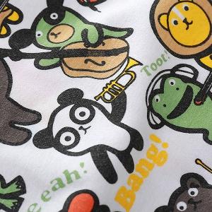 Шарена детска тениска за момчета с животни - 1 модел