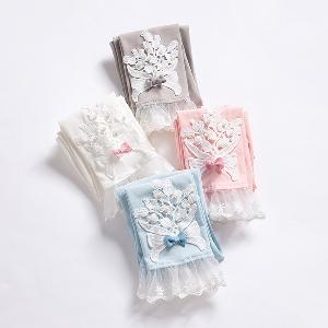 Детски клин с дантела за момичета : Сив, Розов, Бял, Син