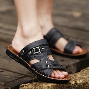 Мъжки кожени сандали и чехли