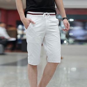 Мъжки летни къси панталони в син,бял,черен и бежов цвят