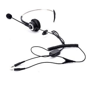 Офис слушали с микрофон с дължина 1.5 метра - за компютър и стационарен телефон, подходящи за call center