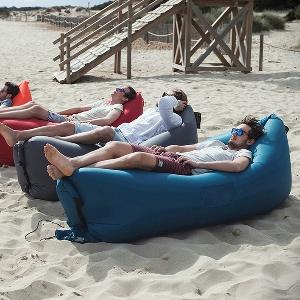 Туристически надуваеми преносими дивани - за плаж и планина, за мъже и жени: жълт, лилав, черен
