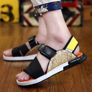 Мъжки летни сандали от изкуствена кожа в 2 модела