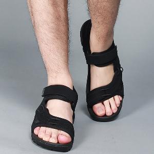 Мъжки спортни сандали в черен и кафяв цвят