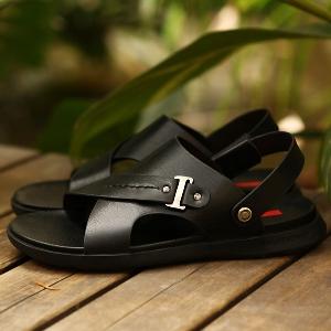 Мъжки кожени летни сандали - кафяви и черни модели
