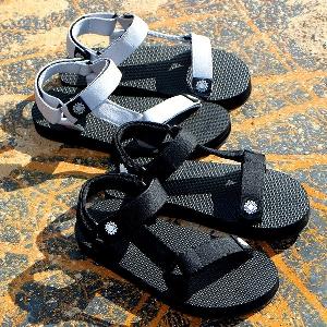 Мъжки летни сандали за плаж и ежедневие - черни, бели, сини, бежови, зелени и червени