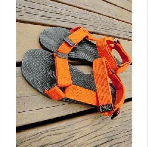 Мъжки летни сандали в оранжев,черен и син цвят - 3 модела