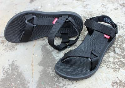Черни мъжки сандали подходящи за лятото - 1 модел