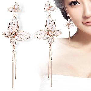 Дамски обеци в 2 модела - пеперуди
