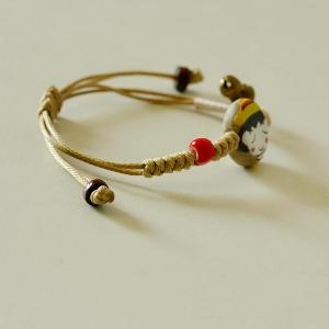 Дамски порцеланови гривни с декоративни камъчета - един брой или комплект от двата модела