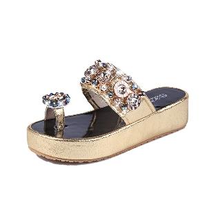 Дамски чехли на платформа: Бели, Сребристи, Златисти, Черни