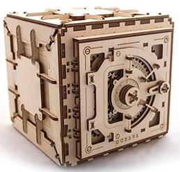 3D механичен пъзел Ugears сейф