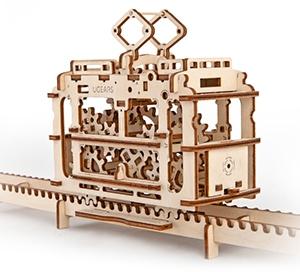3D механичен пъзел Ugears трамвай