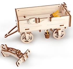3D механичен пъзел Ugears ремарке за трактор