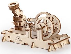 3D механичен пъзел Ugears двигател