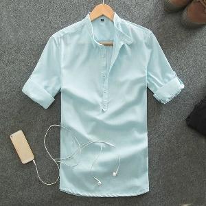 040dbde103f Летни мъжки ленени ризи в пет свежи цвята. - Badu.bg - Светът в ...