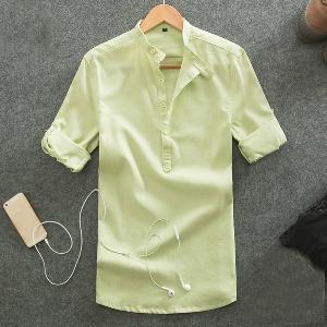 Летни мъжки ленени ризи в пет свежи цвята.
