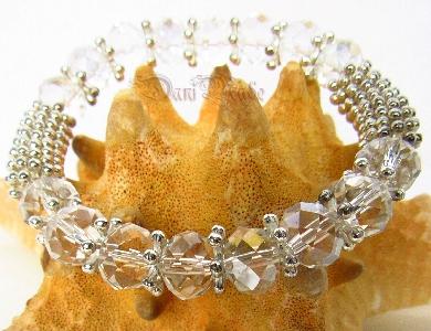 Дамска гривна от фасетиран чешки кристал - DM-2287