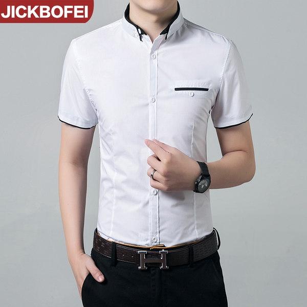 Καλοκαιρινά ανδρικά πουκάμισα - μαύρο και άσπρο με υλικό από πολυεστέρα και  βαμβάκι - Badu.gr Ο κόσμος στα χέρια σου 609654f3240