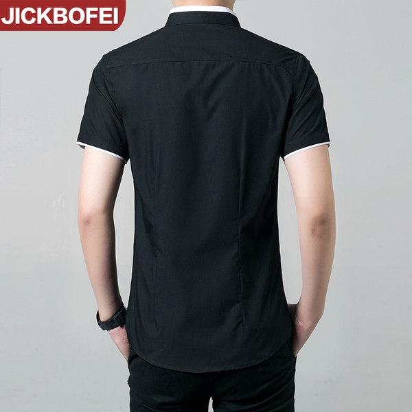 Καλοκαιρινά ανδρικά πουκάμισα - μαύρο και άσπρο με υλικό από πολυεστέρα και  βαμβάκι - Badu.gr Ο κόσμος στα χέρια σου 612a4038c7e