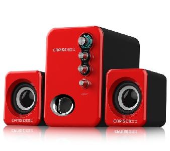 Компютърни тонколони с усилвател USB аудио техника  червени, бели, черни