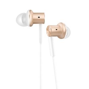 Слушалки за телефон Xiaomi Piston Iron в златист и сребрист цвят с честотен обхват 20-20000Hz и импенданс 32Ω