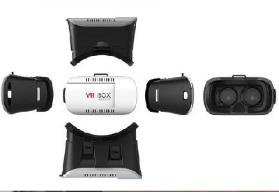 Стереоскопични VR  3D очила  виртуална реалност за мобилен телефон с дистанционни и слушалки