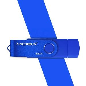 USB флашки с порт за компютър и  смартфони android  в четири цвята