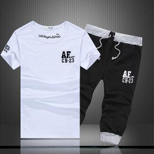 Мъжки летни спортни екипи тениска и къси панталони