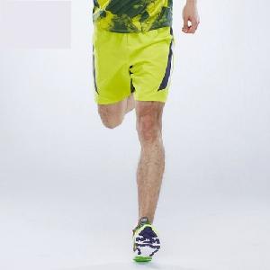 Мъжки къси летни джогинг спортни панталони - жълти и сиви - еластични от полиестър