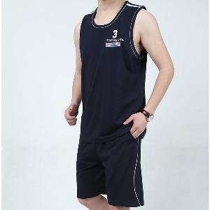 Памучни мъжки спортни екипи състоящи се от потник и шорти 4 модела
