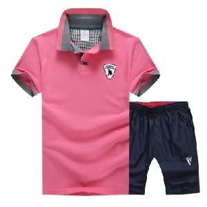 Мъжки спортни екипи тениска и къси панталони в четири цвята.