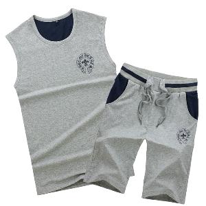 Летен мъжки спортен комплект - потник и шорти 7 модела