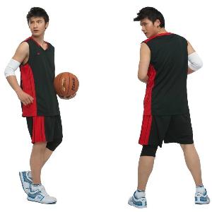 Мъжки баскетболен спортен летен екип от потник и къси панталони: жълт, син, черен, бял, червен