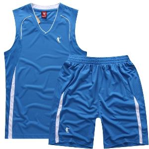Мъжки спортни екипи - потник и шорти подходящи за баскетбол и джогинг