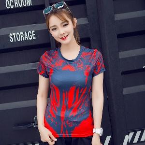 06e90c849245 Γυναικεία αθλητικά κοντομάνικα μπλουζάκια για το γυμναστήριο και γιόγκα Top  Spider-Man μοντέλα με κύριο