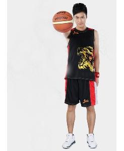 Мъжки спортен баскетболен екип в черен цвят
