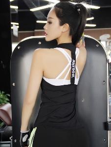 Летни дамски еластични бързосъхнещи спортни потници подходящи за фитнес