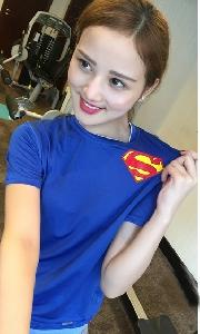 Дамски спортни памучни тениски с къси ръкави - сини, зелени, червени, червени - Спайдърмен