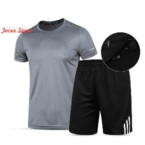Мъжки спортни комплекти 6 модела за фитнес  бързо съхнещи.