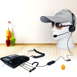 Слушалки подходящи за call center в черен цвят с кабел дълъг 2.1м