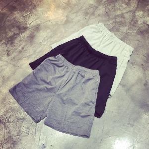 Мъжки спортни памучни шорти в 3 цвята - черен,сив и бял