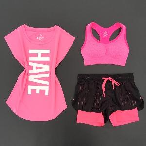 Дамски спортни екипи за тренировки с дълъг или къс панталон, тениска или бюстие