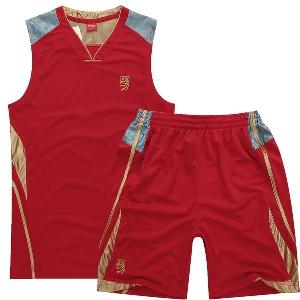d3ae57723b9 Мъжки спортни летни екипи от потници и къси панталони за фитнес,  баскетболни бели, червени
