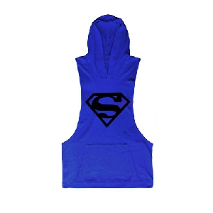 Спортни мъжки потници с качулка на Супермен и Punisher подходящи за фитнес в различни цветове