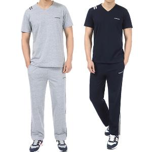Мъжки спортни екипи от две части тениска и дълъг панталон.