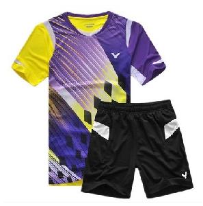 Мъжки спортни екипи, комплект от летни тениски с къс ръкав и къси панталони бързосъхнещи от полиестър