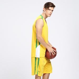 Спортен мъжки екип за баскетбол в черен,бял,червен,жълт,зелен и син цвят