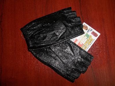 Дамски кожени ръкавици без пръсти
