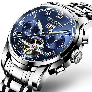 Мъжки водоустойчиви часовници изработени от неръждаема стомана в черен,син,бял и златист цвят - 9 модела